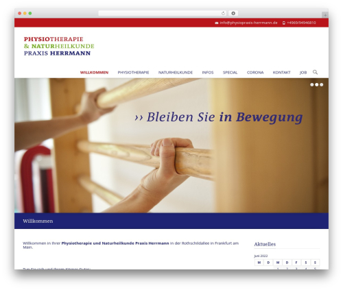 WordPress theme i-spirit - physiopraxis-herrmann.de