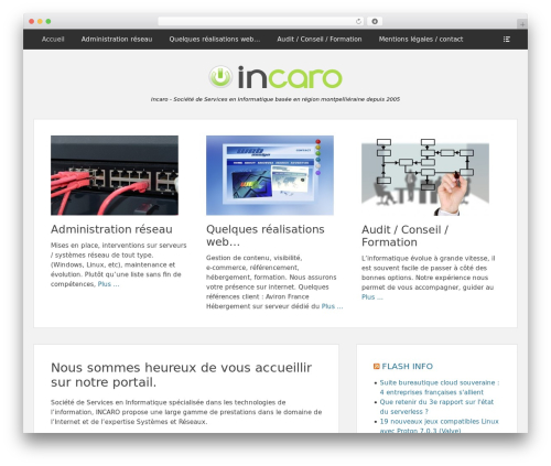 WordPress website template Clean Box - incaro.net