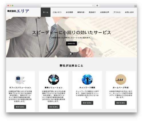 WordPress website template Complete - area.okinawa