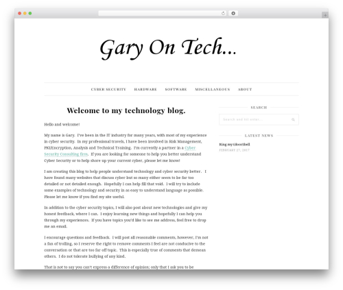 WP template 30 Day Blog Challenge - gary-on.tech