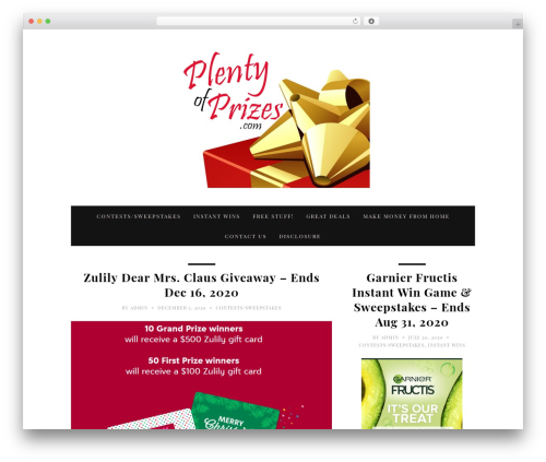 30 Day Blog Challenge WordPress blog theme - plentyofprizes.com