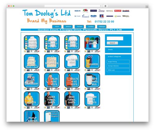 eGallery best WordPress theme - tomdooleys.co.uk