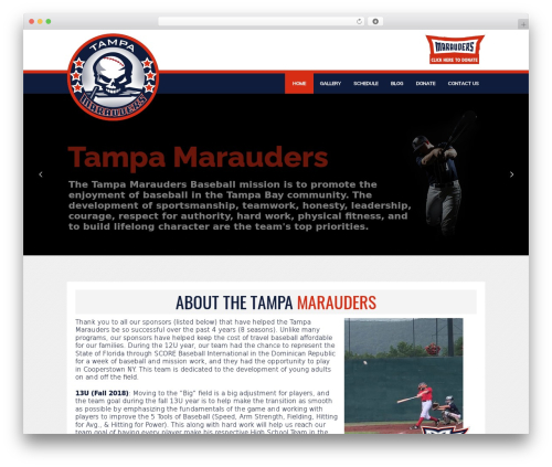 FITNESS-WP fitness WordPress theme - tampamarauders.org