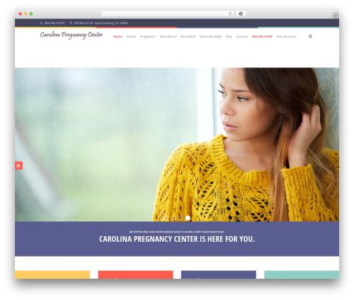 Healthandcare WordPress page template - carolinapregnancy.org
