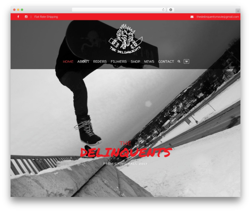 HorseClub WordPress website template - thedelinquentsmovie.net