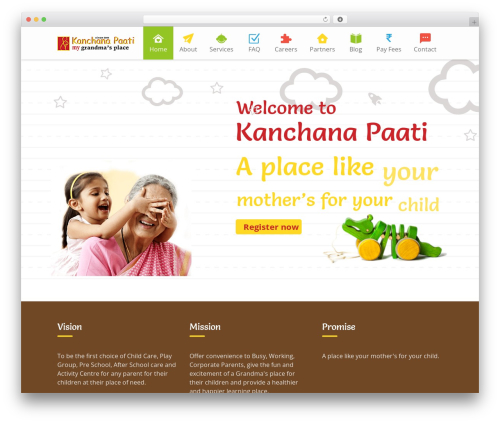 Kiddie WordPress theme - kanchanapaati.in