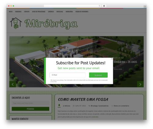 LiveBlog WordPress page template - mirobriga.pt