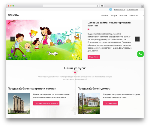 Meridian WordPress template - feldom.ru