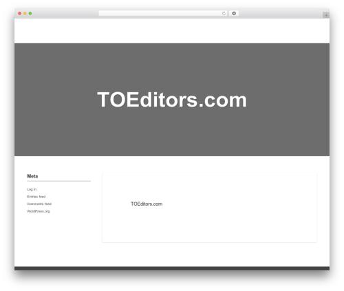 paperhouse WordPress theme - toeditors.com