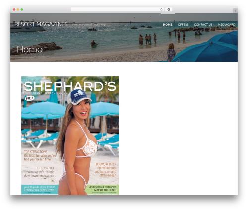 Primer free WordPress theme - resortmagazines.com