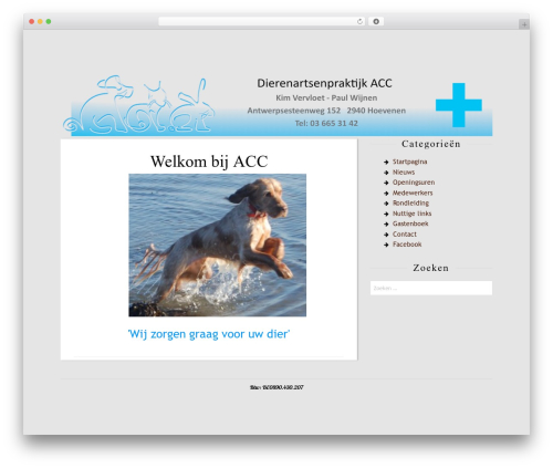 Rakiya free WordPress theme - animalcarecenter.be