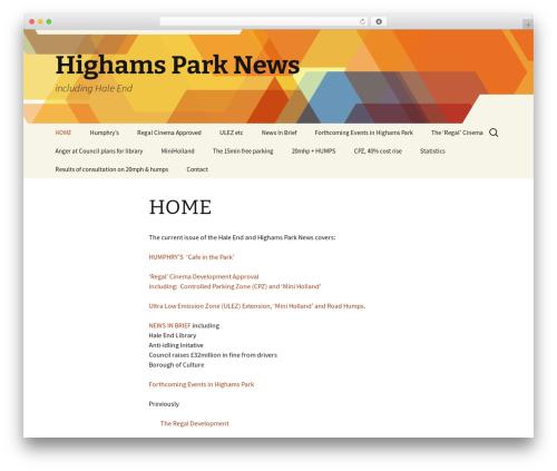 Twenty Thirteen template WordPress free - highamsparknews.org