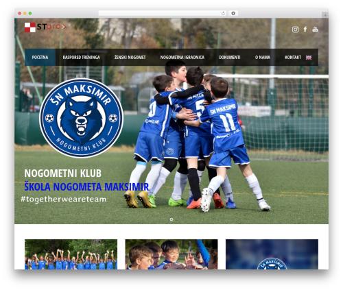 WP theme Real Soccer - nc-maksimir.hr