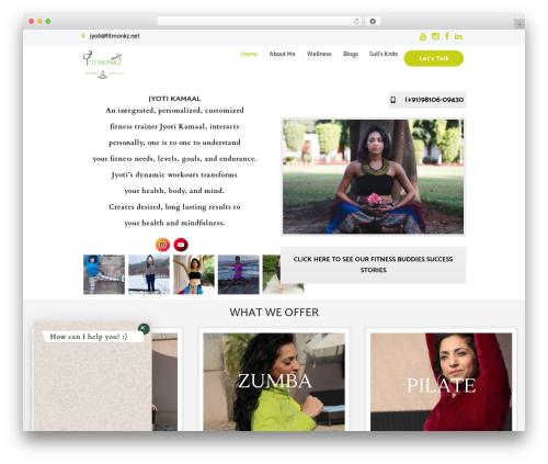 YogaStudio WordPress website template - fitmonkz.net