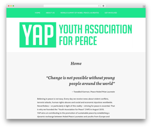 Argent theme WordPress - youth-peace.org