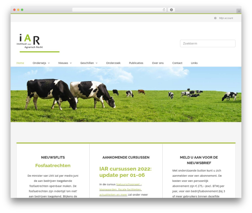 Avada WordPress website template - iar.nl