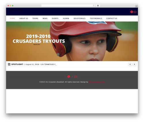 Best WordPress template GoalKlub - crusadersbaseball.net