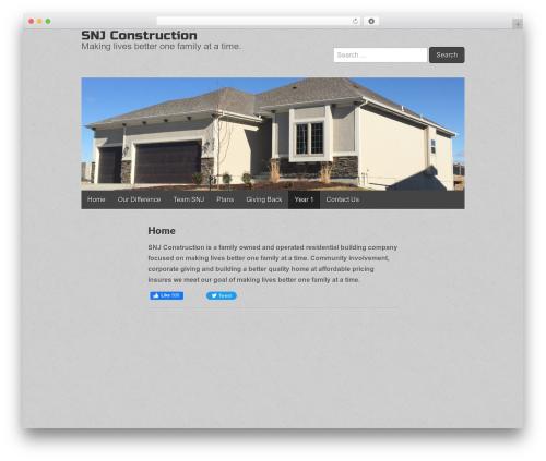 Best WordPress template Gridiculous - snjbuilding.com