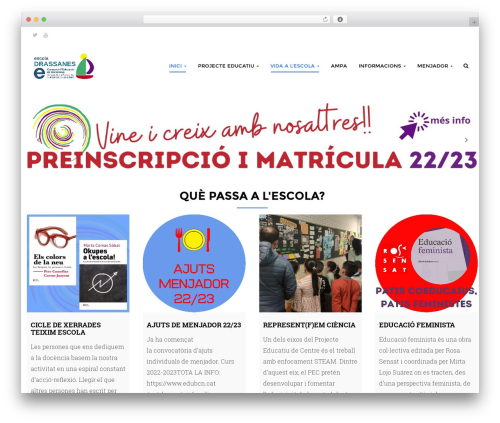 Edubase WordPress theme - escoladrassanes.cat