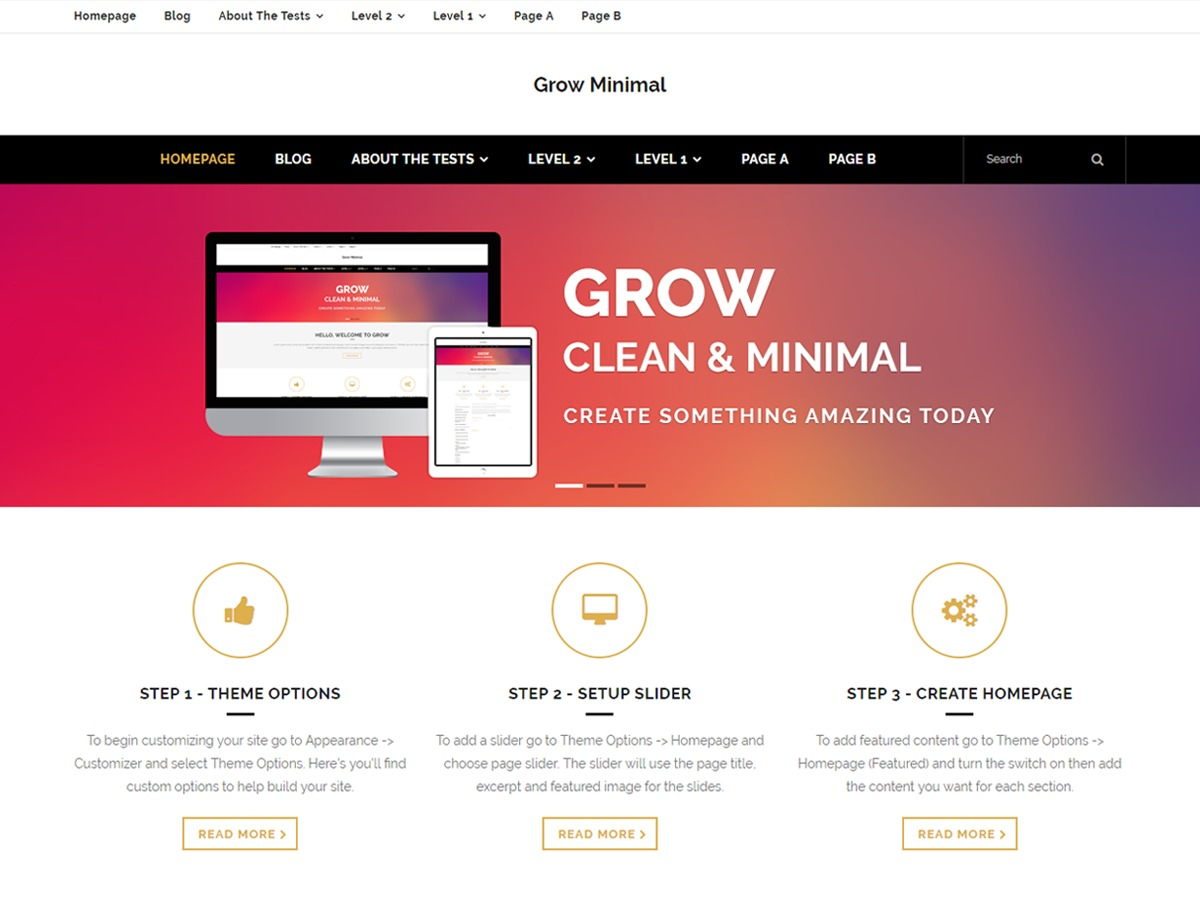Grow Minimal WordPress ecommerce theme