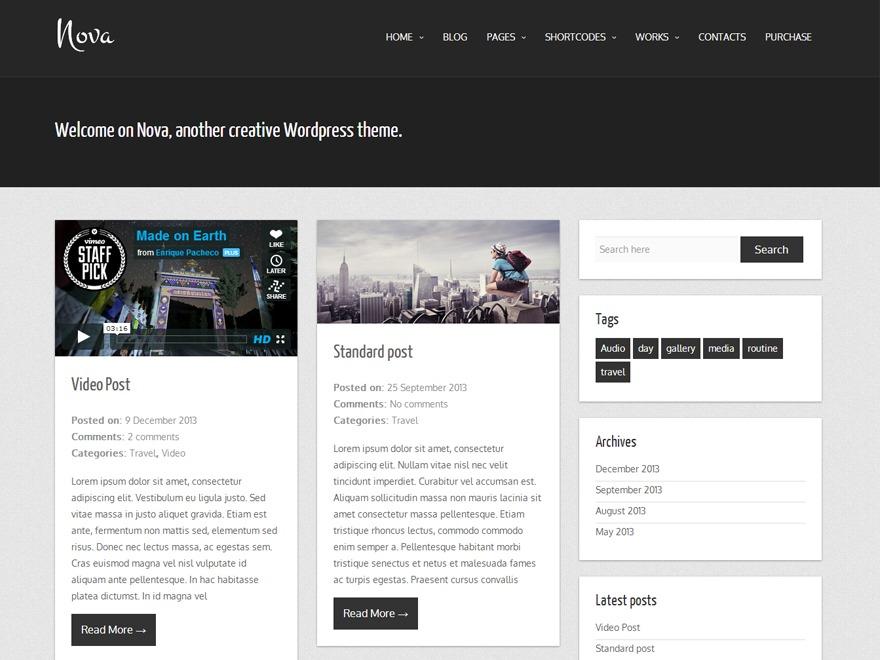 Nova Lite WordPress blog theme
