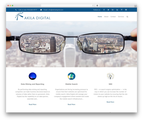 THBusiness Pro company WordPress theme - akiladigital.com