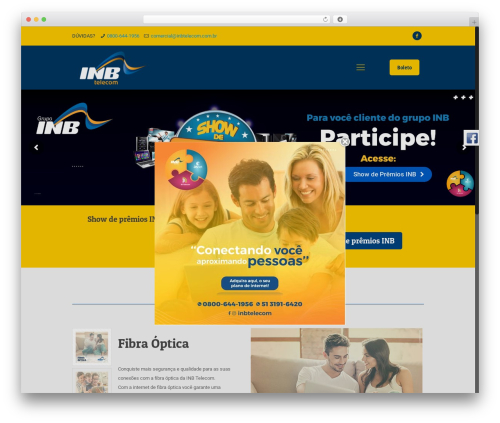 WordPress template Betheme - inbtelecom.com.br
