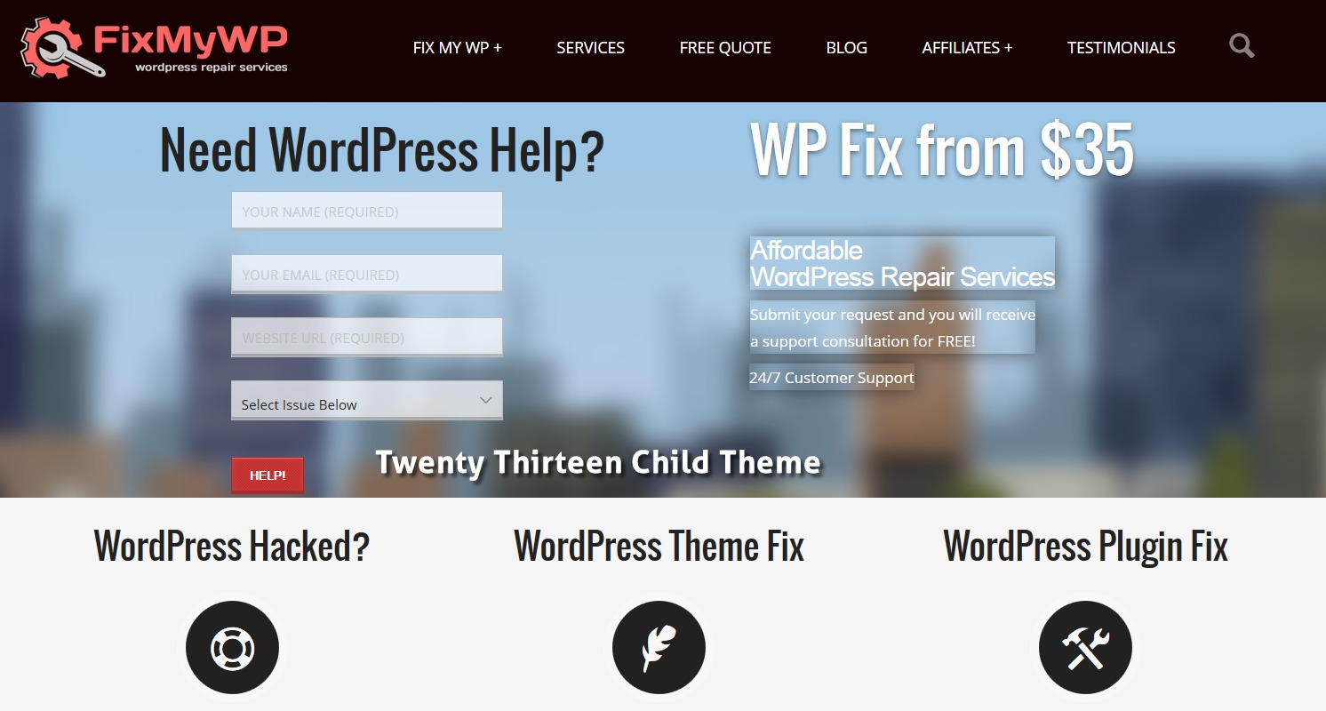 WordPress theme Twentythirteen - Child Theme