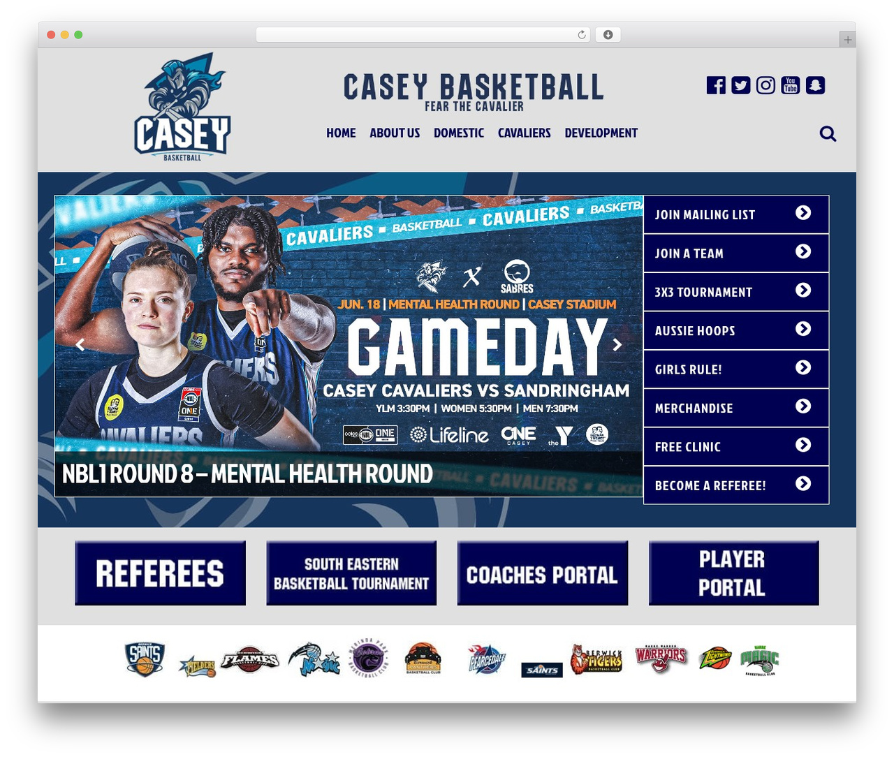 Casey Basketball best WordPress template - caseybasketball.com.au