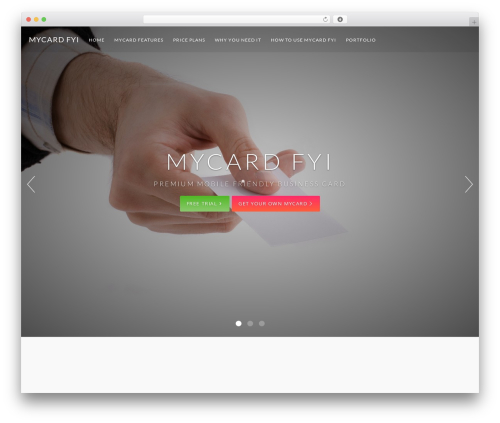 Catalyst company WordPress theme - mycard.fyi