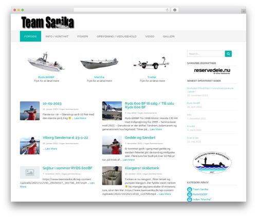 Oceanic Premium WordPress theme - teamsanika.dk