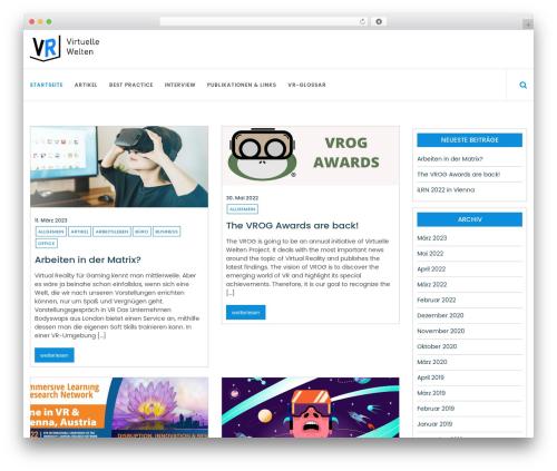 Online News WordPress magazine theme - virtuellewelten.at