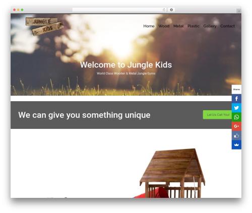 Pinnacle free WordPress theme - junglekids.co.za