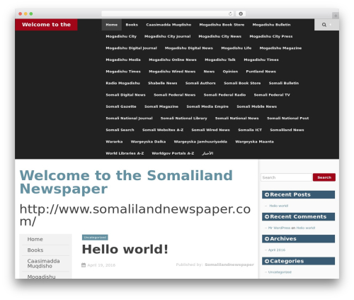 SmartAdapt free website theme - somalilandnewspaper.com