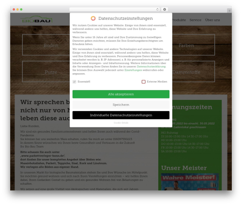 WordPress megamenu-pro plugin - biobau-bonn.de