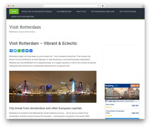 Travelers best WordPress template - visitrotterdam.org