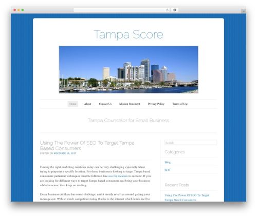 WP theme Forever - tampascore.org