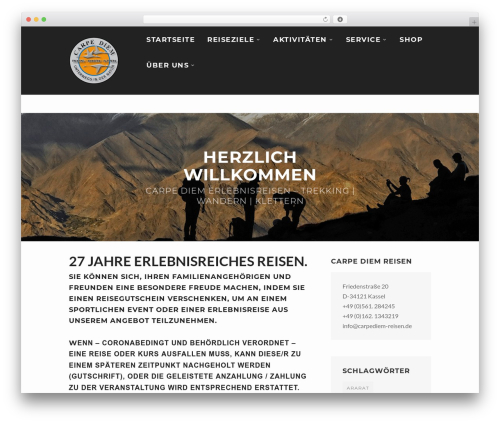 WPVoyager WordPress theme - carpediem-reisen.de
