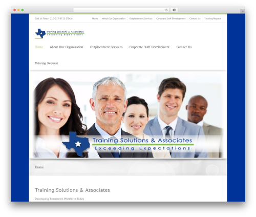 Avada WordPress theme - trainingsolutionsandassociates.com