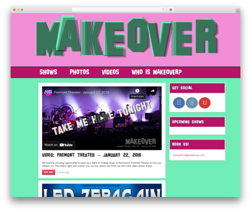 Best WordPress template Replay - totallymakeover.com