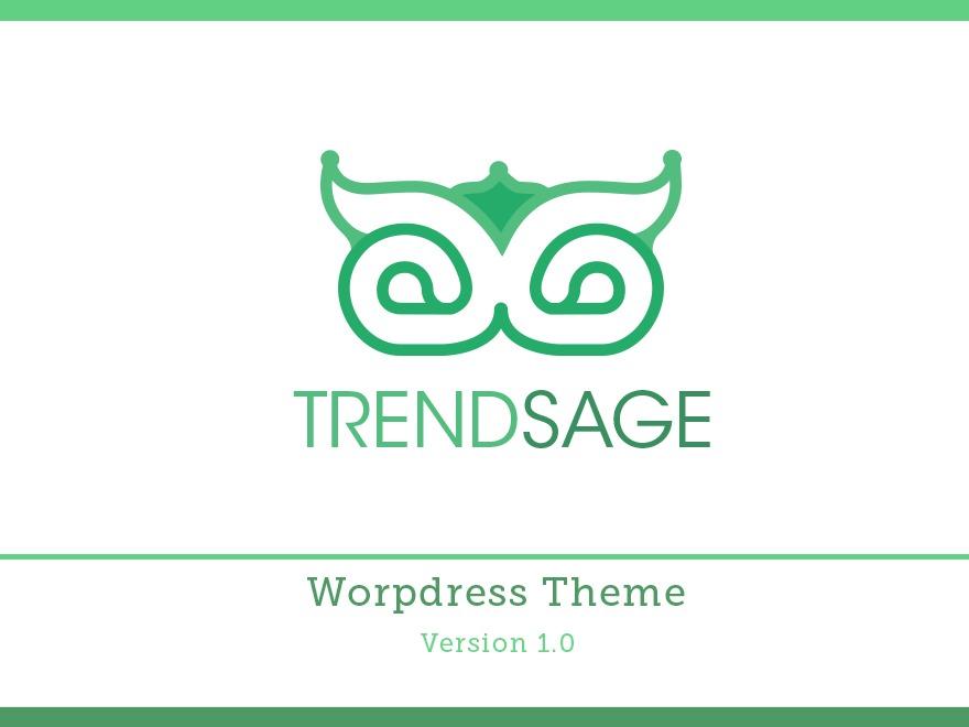 Best WordPress template Trendage