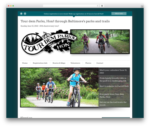 Best WordPress theme InfoWay - tourdemparks.org