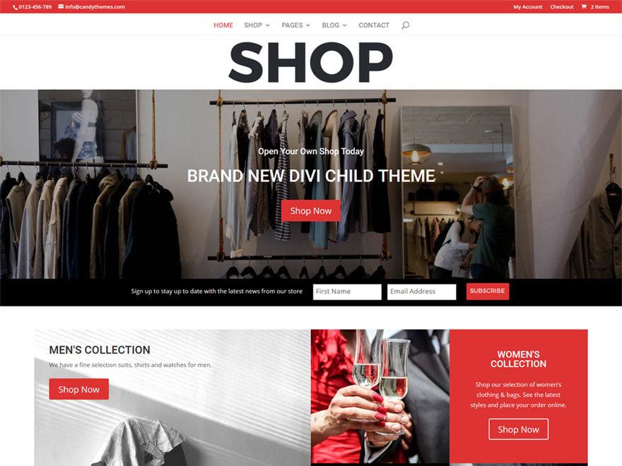 Candy Shop WordPress ecommerce theme