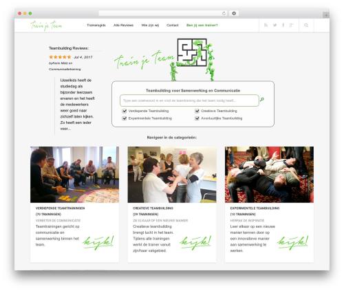 Enpine WordPress theme - trainjeteam.nl
