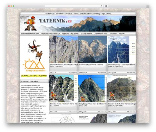 Exact theme WordPress - taternik.eu
