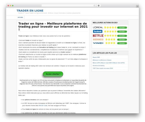 Financial Trading Theme WordPress theme - trader-en-ligne.eu