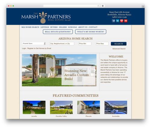 Full Width WordPress real estate - themarshpartners.com