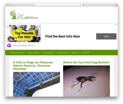 GeneratePress best free WordPress theme - thenatureblog.com