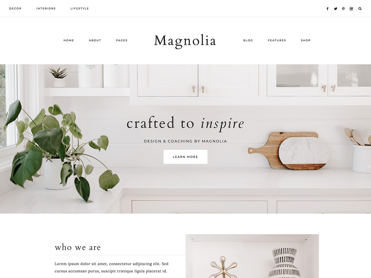 Magnolia WordPress blog theme