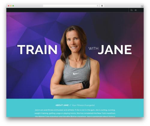 Movedo WordPress blog theme - trainwithjane.net